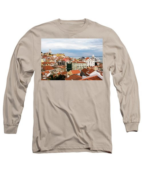 Long Sleeve T-Shirt featuring the photograph Cruise Ship Peeks by Lorraine Devon Wilke