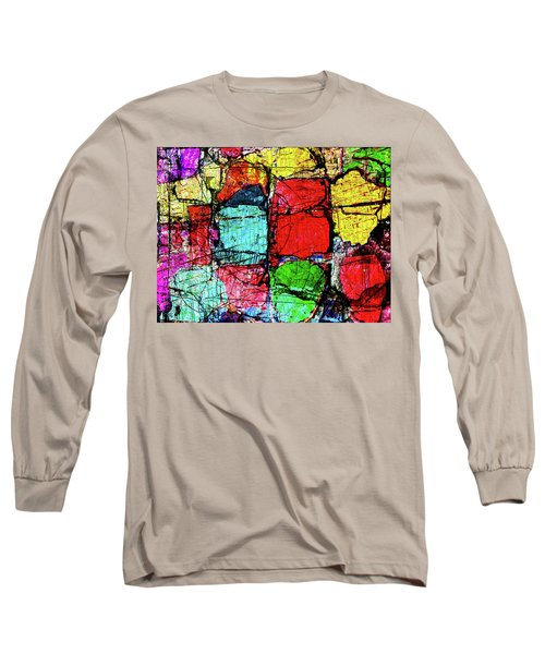 Crumbling Stone Wall Long Sleeve T-Shirt by Don Gradner