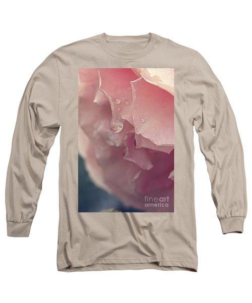 Crying In The Rain Long Sleeve T-Shirt by Linda Lees
