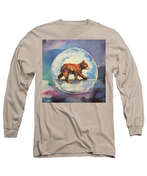 Long Sleeve T-Shirt featuring the painting Cubbie Bear by Christy Freeman