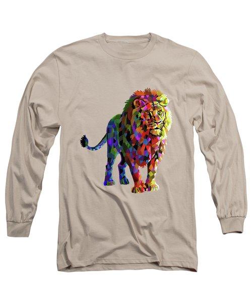 Geometrical Lion King Long Sleeve T-Shirt