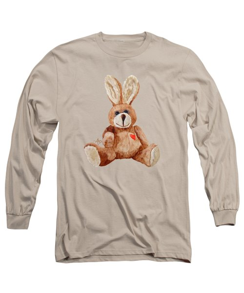 Cuddly Care Rabbit Long Sleeve T-Shirt by Angeles M Pomata