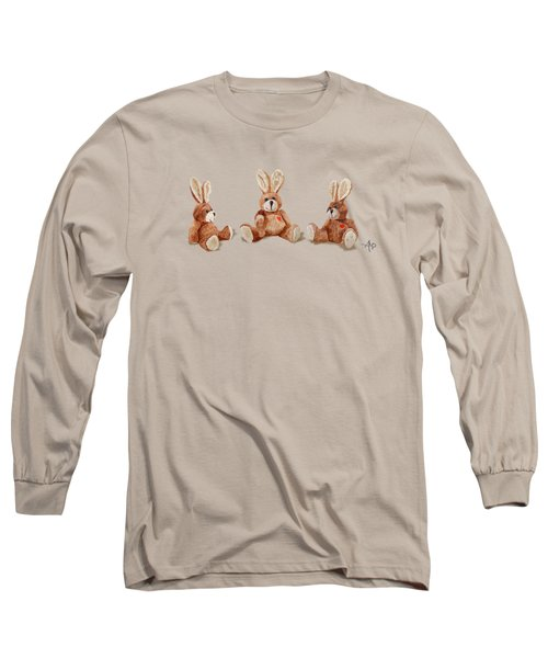 Cuddly Care Rabbit II Long Sleeve T-Shirt by Angeles M Pomata
