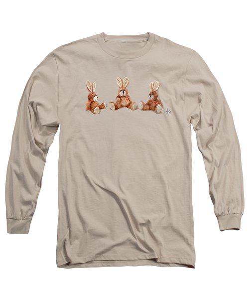 Cuddly Care Rabbit II Long Sleeve T-Shirt by Angeles M Pomata