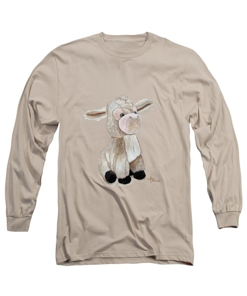 Cuddly Donkey Watercolor Long Sleeve T-Shirt