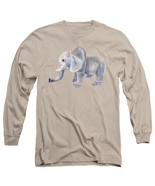 Cuddly Elephant II Long Sleeve T-Shirt by Angeles M Pomata