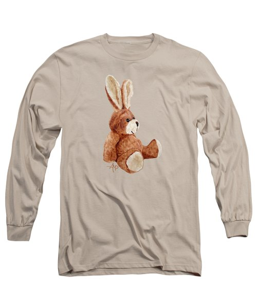 Cuddly Rabbit Long Sleeve T-Shirt by Angeles M Pomata