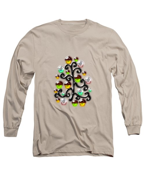 Cupcake Glass Tree Long Sleeve T-Shirt