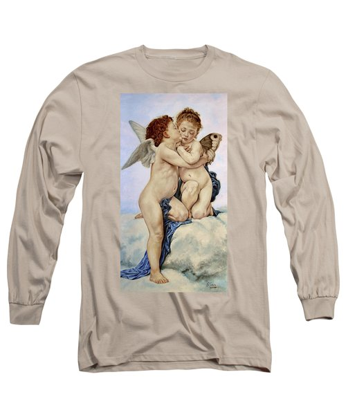 Cupid And Psyche Reproduction William Adolphe Bouguereau  Long Sleeve T-Shirt