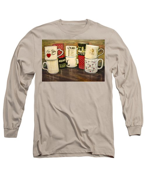Cups Of Memory Long Sleeve T-Shirt by Ron Richard Baviello
