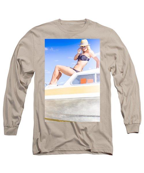 Curious Holiday Woman Long Sleeve T-Shirt
