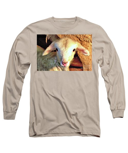 Curious Newborn Lamb Long Sleeve T-Shirt