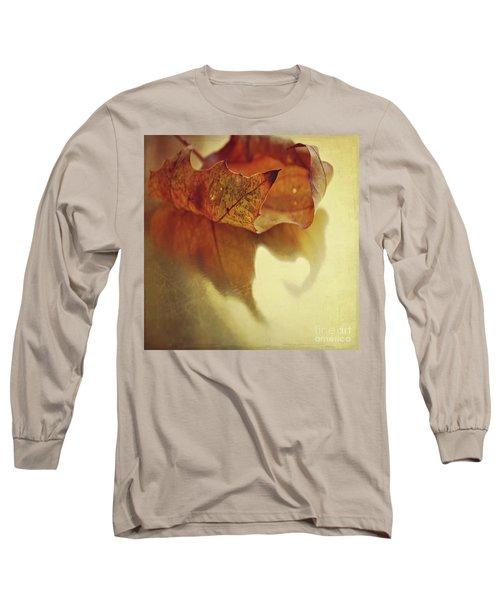 Curled Autumn Leaf Long Sleeve T-Shirt by Lyn Randle