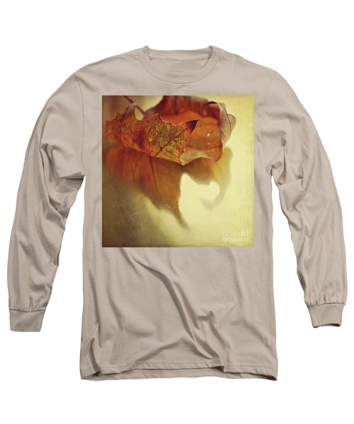 Curled Autumn Leaf Long Sleeve T-Shirt