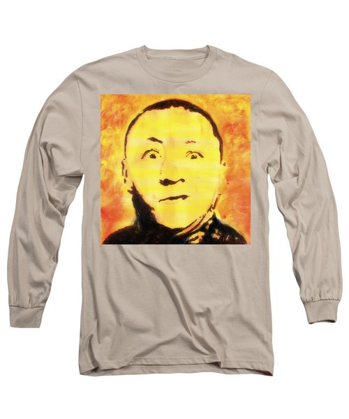 Curly Howard Three Stooges Pop Art Long Sleeve T-Shirt
