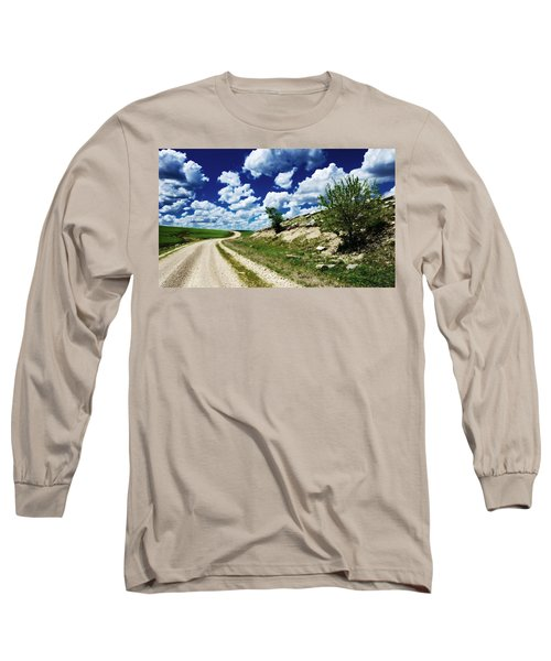 Curving Gravel Road Long Sleeve T-Shirt