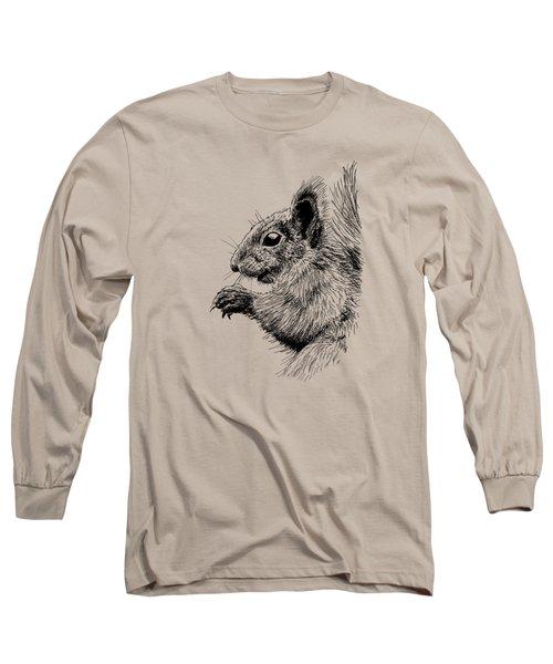 Cute Squirrel Long Sleeve T-Shirt by Masha Batkova