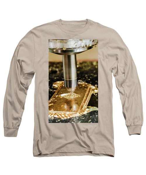 Long Sleeve T-Shirt featuring the photograph Cutting Brass by Bruce Carpenter