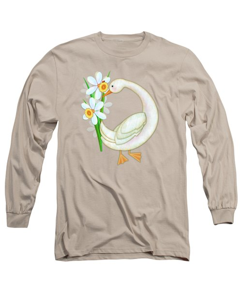 D Is For Duck And Daffodils Long Sleeve T-Shirt