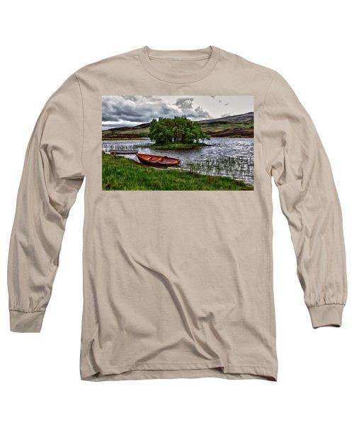 Dads Fishing Spot P D P Long Sleeve T-Shirt by David Dehner