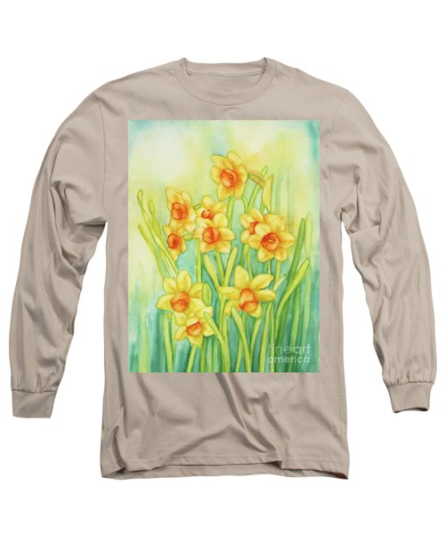 Daffodils In Yellow Long Sleeve T-Shirt