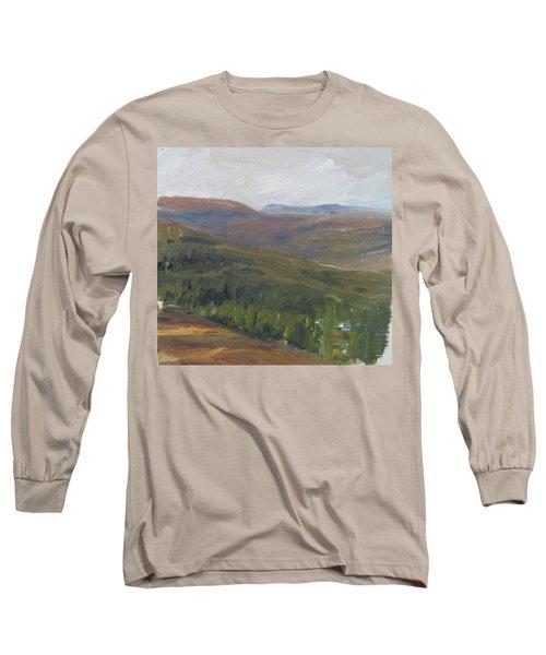Dagrar Over Salenfjallen - Shifting Daylight Over Distant Horizon 1 Of 10_0034 50x50 Cm Long Sleeve T-Shirt