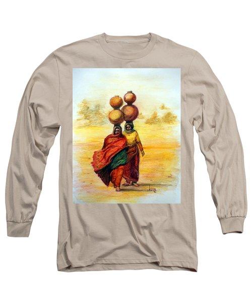 Daily Desert Dance Long Sleeve T-Shirt by Alika Kumar