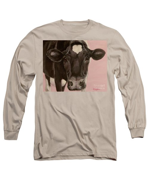 Dairy Cow Princess In Pink Long Sleeve T-Shirt