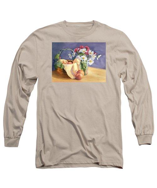Daisies And Peaches Long Sleeve T-Shirt