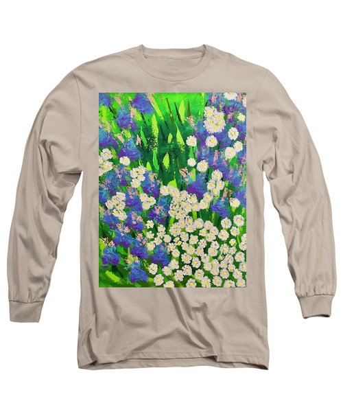 Daisy And Glads Long Sleeve T-Shirt by George Riney