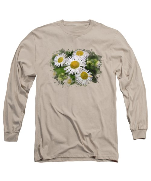 Daisy Watercolor Art Long Sleeve T-Shirt