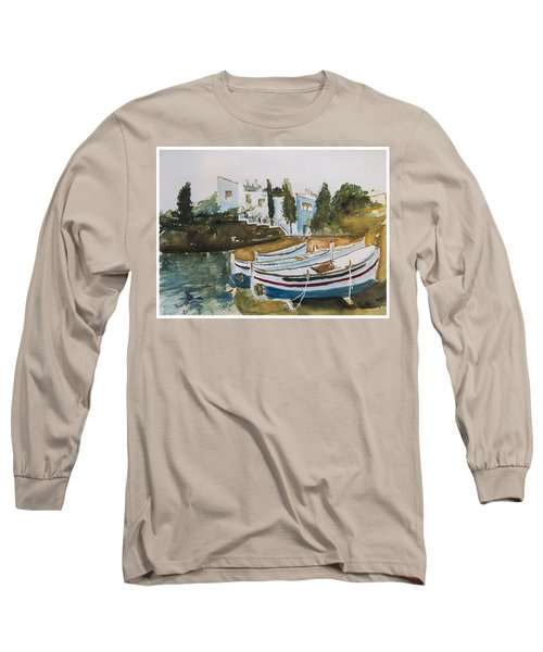 Dali House From Portlligat Long Sleeve T-Shirt by Manuela Constantin