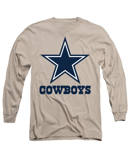 Dallas Cowboys Translucent Steel Long Sleeve T-Shirt