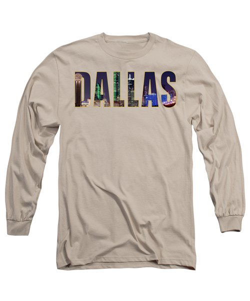 Dallas Letters Transparency 013018 Long Sleeve T-Shirt