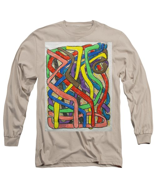 Long Sleeve T-Shirt featuring the painting London Bus Routes by Mudiama Kammoh