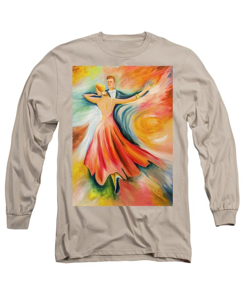 Long Sleeve T-Shirt featuring the painting Dance Me To The End Of Time by Itzhak Richter