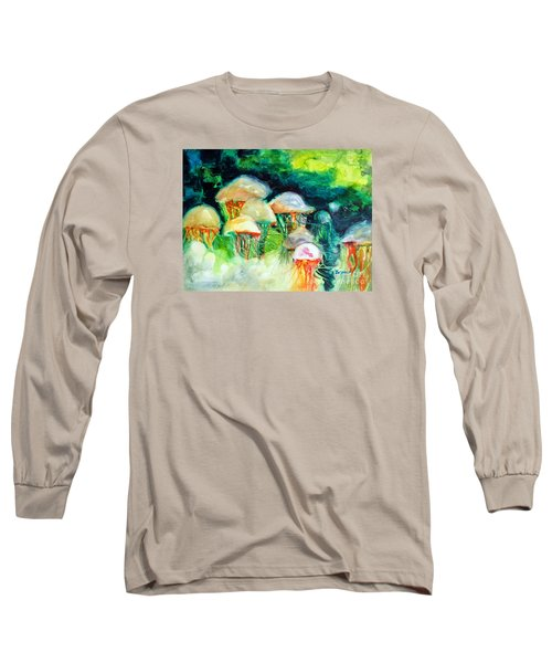Dance Of The Jellyfish Long Sleeve T-Shirt by Kathy Braud