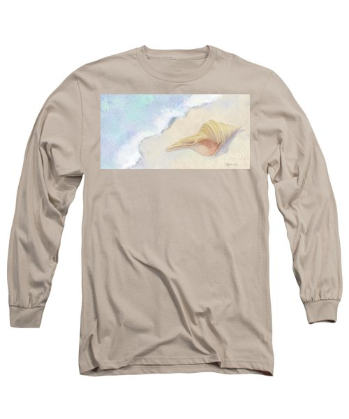 Long Sleeve T-Shirt featuring the painting Dance Of The Sea - Australian Trumpet Shell Impressionstic by Audrey Jeanne Roberts