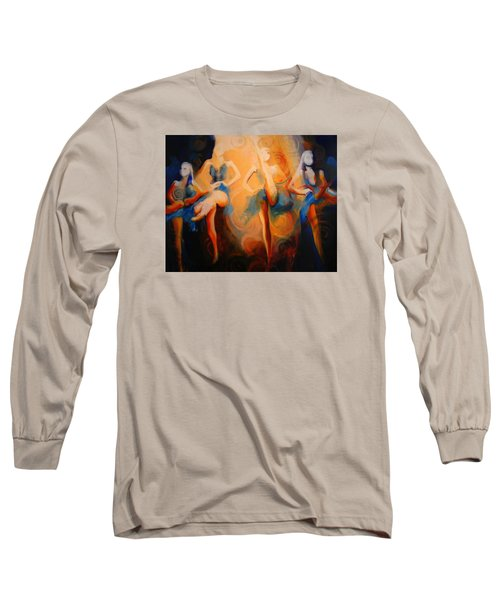 Long Sleeve T-Shirt featuring the painting Dance Of The Sidheog by Georg Douglas