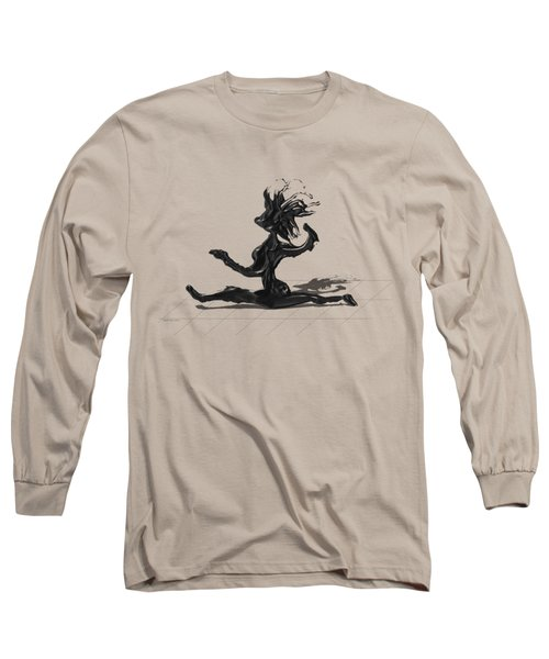Long Sleeve T-Shirt featuring the painting Dancer by Manuel Sueess