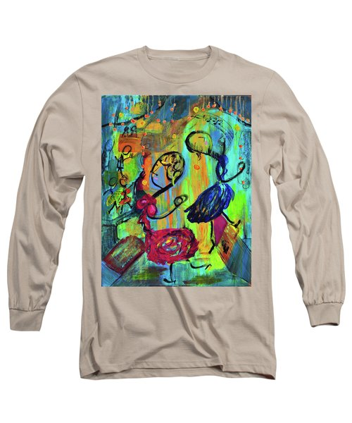 Dancers Abstract Long Sleeve T-Shirt