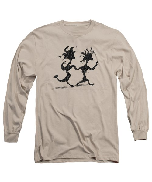 Long Sleeve T-Shirt featuring the painting Dancing Couple 7 by Manuel Sueess