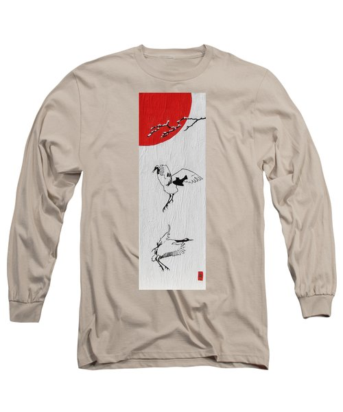 Dancing Cranes Long Sleeve T-Shirt