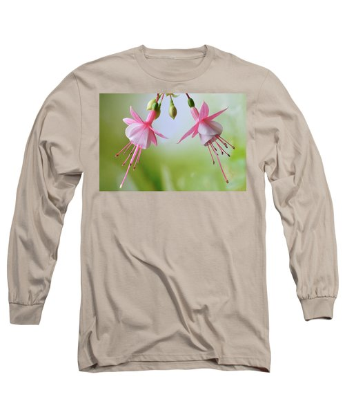 Long Sleeve T-Shirt featuring the photograph Dancing Fuchsia by Terence Davis