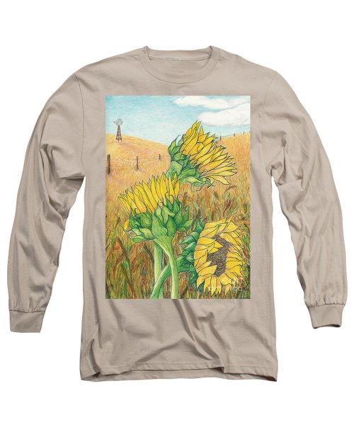 Dancing In The Breeze  Long Sleeve T-Shirt by Vicki  Housel