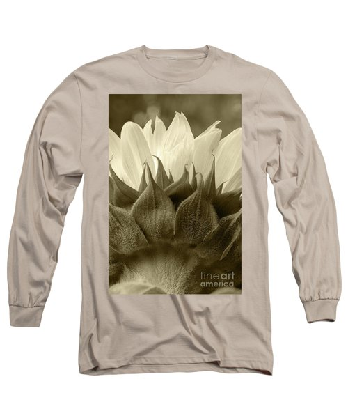 Long Sleeve T-Shirt featuring the photograph Dandelion In Sepia by Micah May