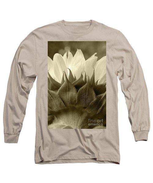 Dandelion In Sepia Long Sleeve T-Shirt