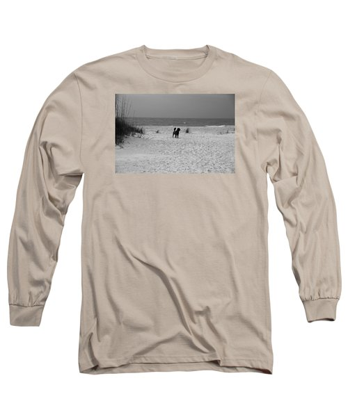 Long Sleeve T-Shirt featuring the photograph Dandy On The Beach by Michiale Schneider