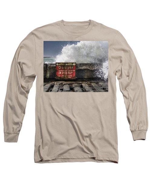 Danger Long Sleeve T-Shirt by Greg Nyquist