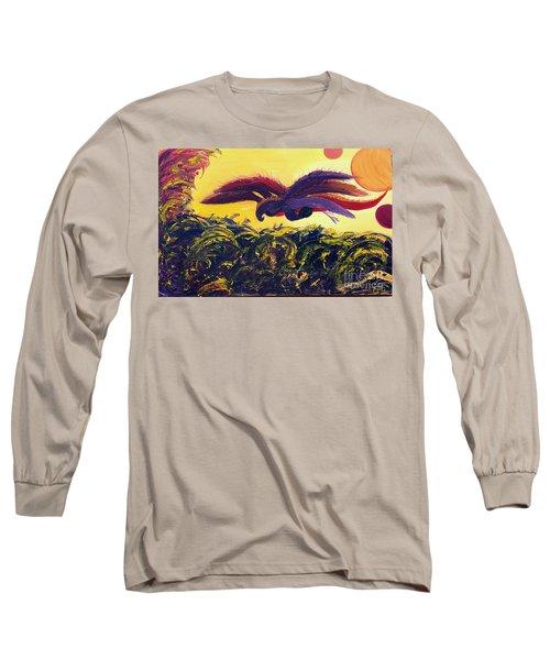Dangerous Waters Long Sleeve T-Shirt by Ania M Milo